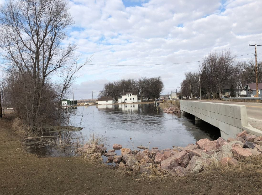 Flooding at the Spring Creek in Renner on March 25.