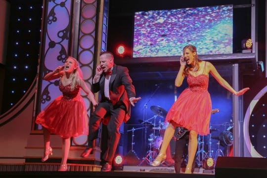 The high-energy show aboard the Showboat Branson Belle features popular numbers spanning the decades.