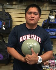 Anthony Marrietta, a sophomore at Dixie State University, tossed his first career 600 series last week in Mesquite.
