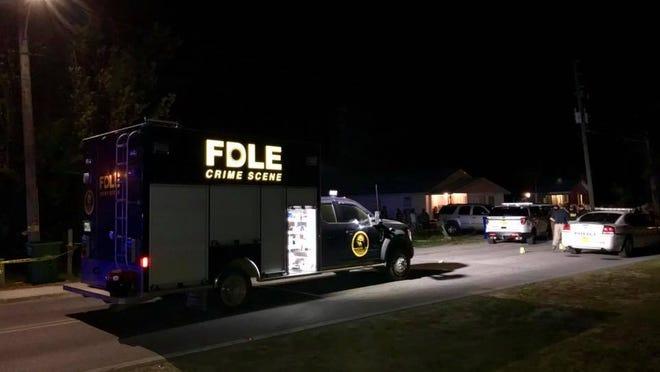 FDLE crime scene investigators from Pensacola respond Sunday to a fatal deputy-involved shooting in Port St. Joe.
