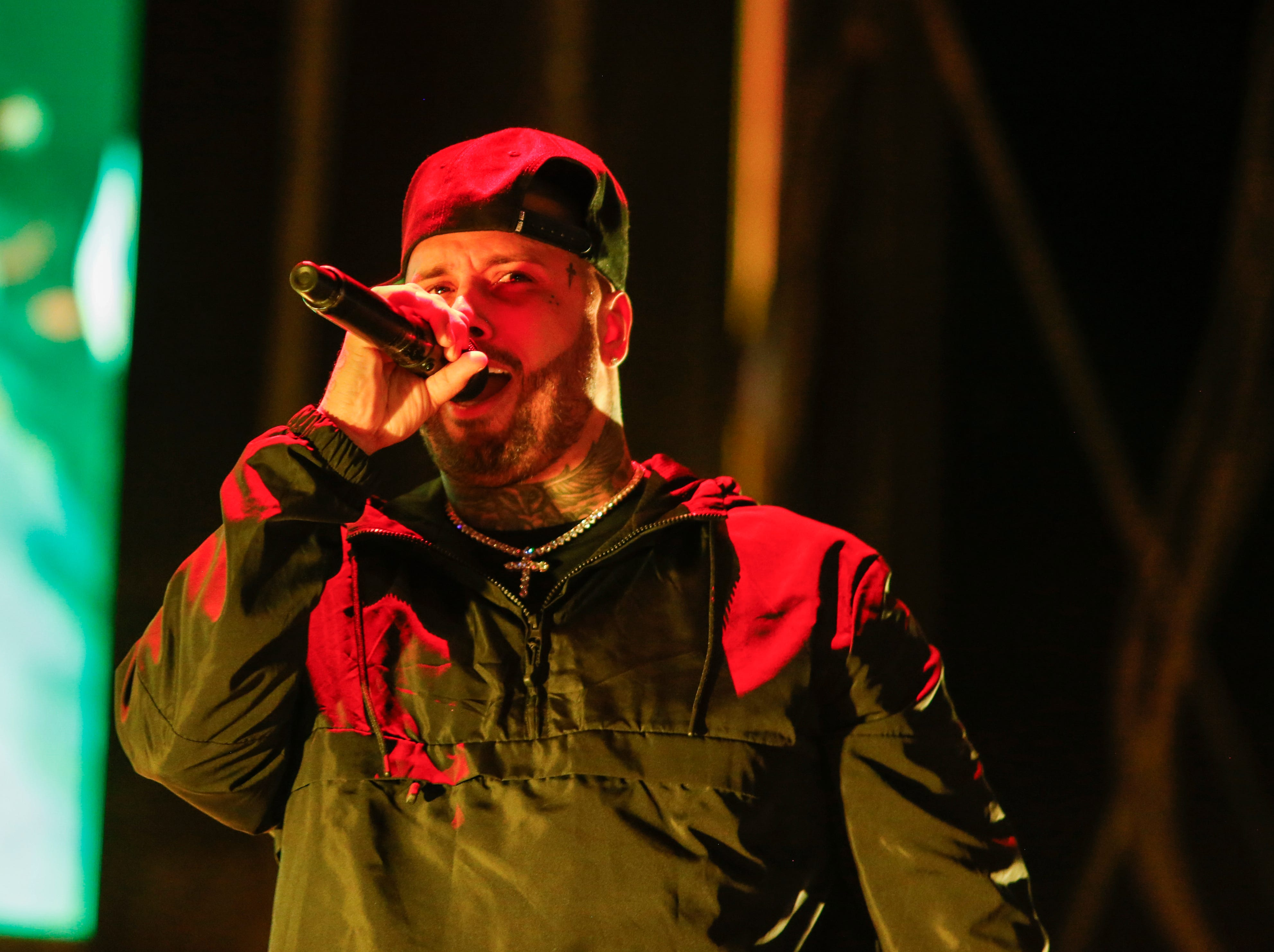 Singer Nicky Jam performed at Ascarate Park on Sunday night.