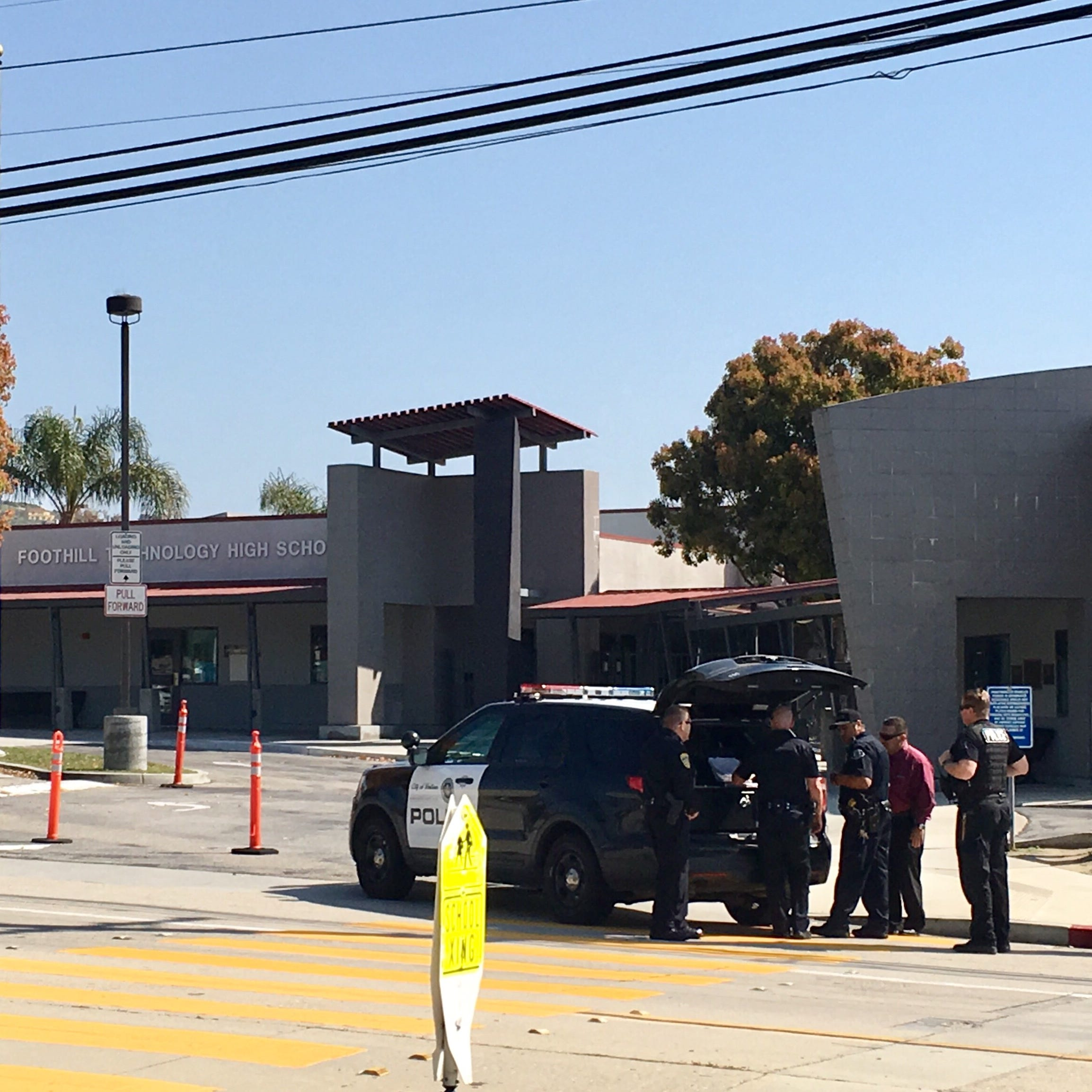 Ventura police investigate 'very vague' bomb threat Foothill Tech High; no threat found