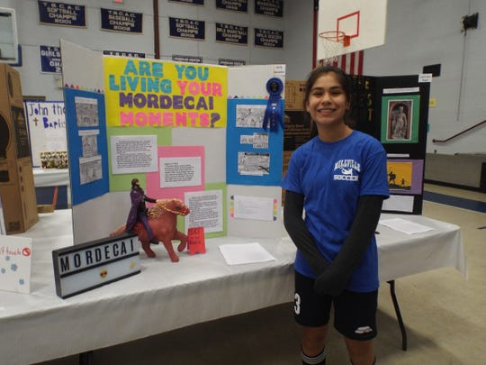 Carly Saavedra received Best in Fair honors her entry in Cumberland Christian School's Middle School Project Fair.