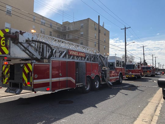 Firefighters responded to a fire at Brentwood Towers on Howard Street, just off Chestnut Avenue, in Vineland. March 25, 2019