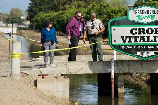 Sgt. Gary Marks and violent crimes detectives are investigating a body in a canal. The body was found near Avenue 416 and Road 100.