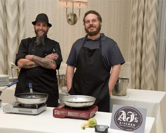 Chef AJ Servidio, left and restaurant manager Doug Faehdrich. The two brothers co-own AJ's Kitchen in Pearl River.