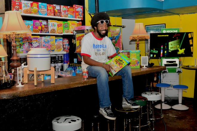 Maniac Mansion owner Marcus McGee is seen at the new venue's cereal bar.