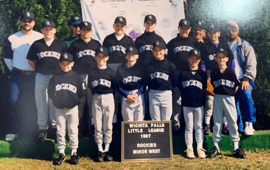Before he was a big leaguer, Chase Anderson (front row, second from left) was a member of the Rockies in the Wichita Falls Little League.