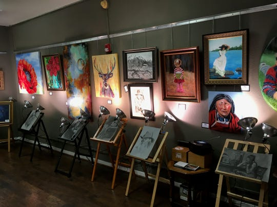 Art on display inside the Seventh St. Studio during the 2018 After Hours Artwalk. The Artwalks begin again from 6 to 9 p.m. Thurs. April 4 in downtown Wichita Falls.