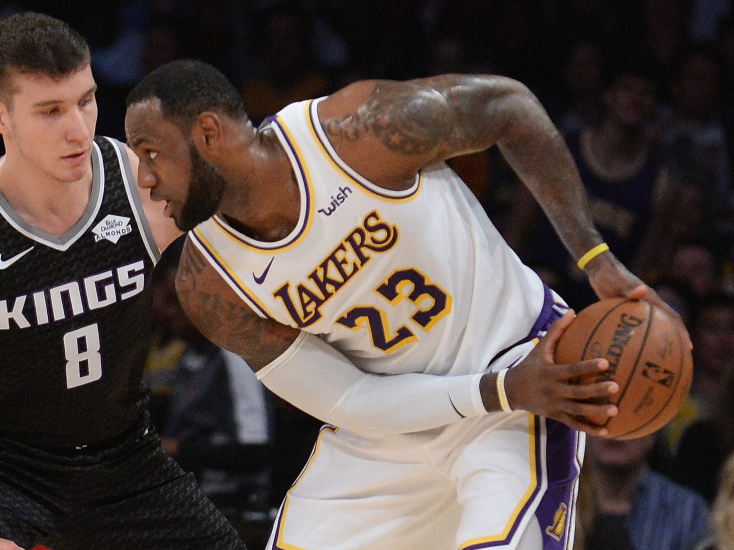 108. LeBron James, Lakers (March 24): 29 points, 11 rebounds, 11 assists in 111-106 win over Kings (eighth of season).
