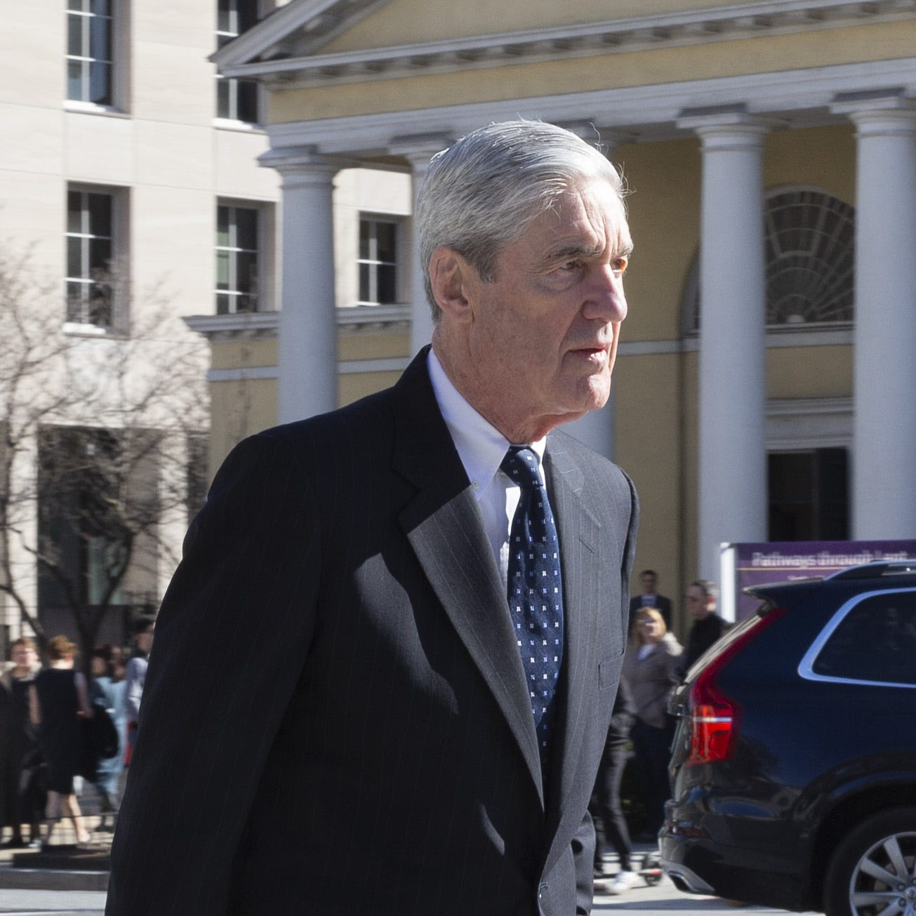 Special counsel Robert Mueller on March 24, 2019, at a church across from the White House.