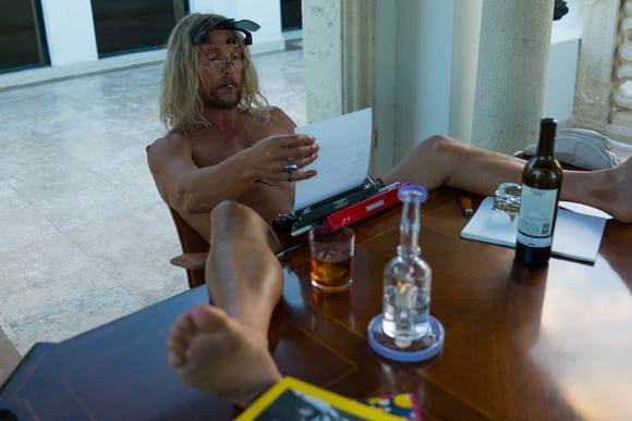 """Moondog (Matthew McConaughey) has to finish his novel to keep living a party-filled lifestyle in """"The Beach Bum."""""""