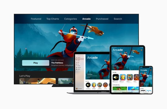 Apple Arcade will work across TV, Macs, iPads and iPhones.