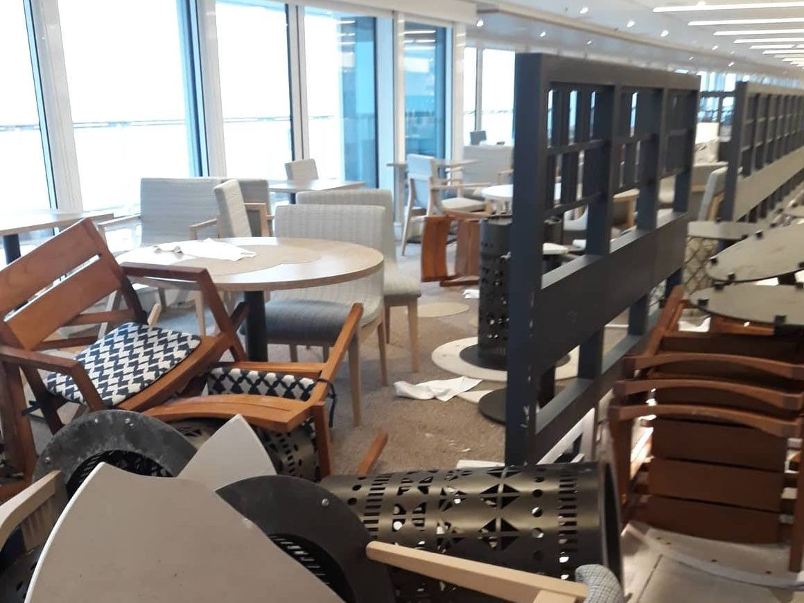 Inside the Viking Sky cruise ship.