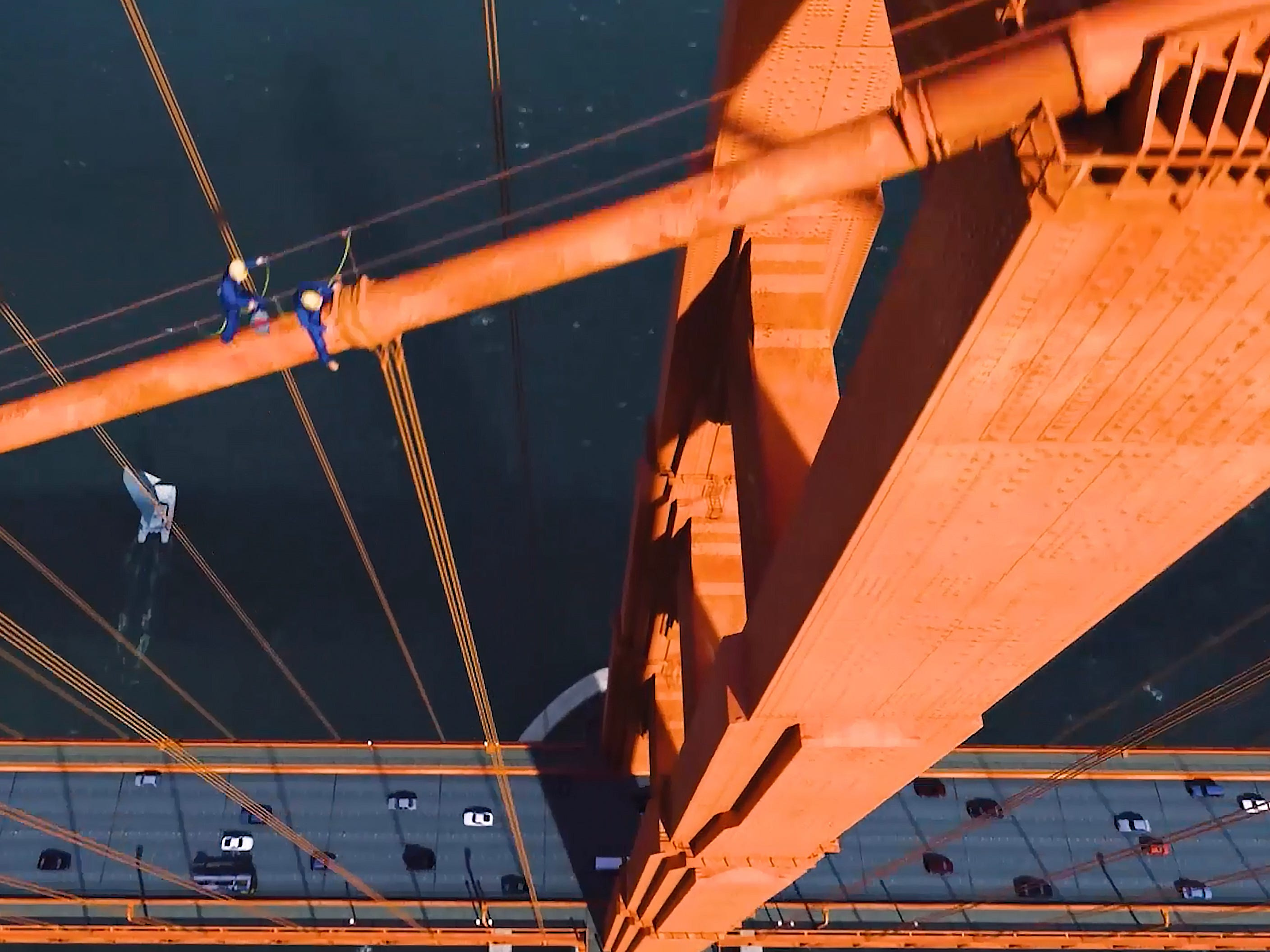 One of the highlights is a journey to the city's iconic Golden Gate Bridge. The scene follows the seagull up into the girders of the bridge for a few slightly harrowing moments.