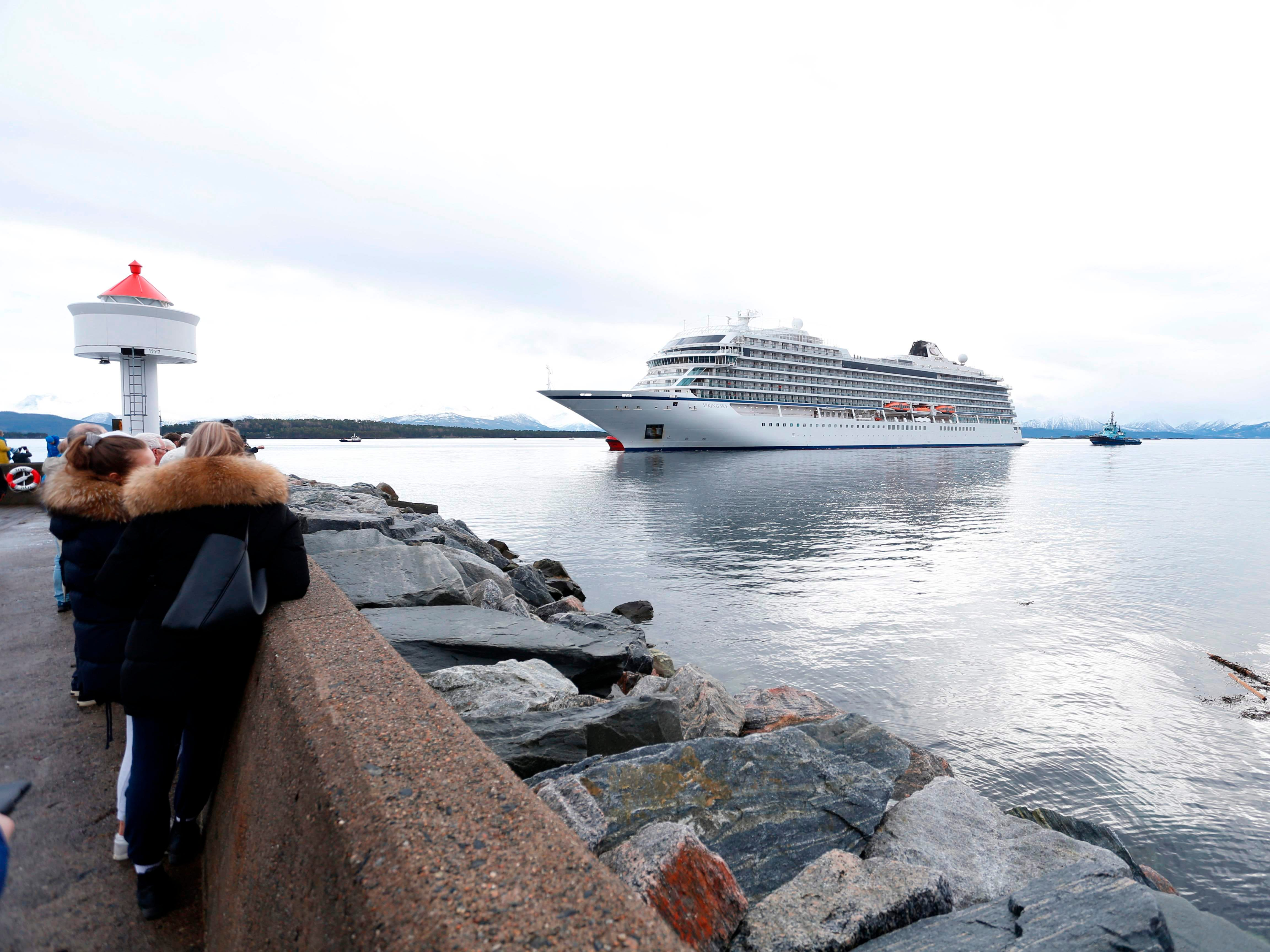 The Viking Sky reaches the port of Molde, Norway, on March 24, 2019.