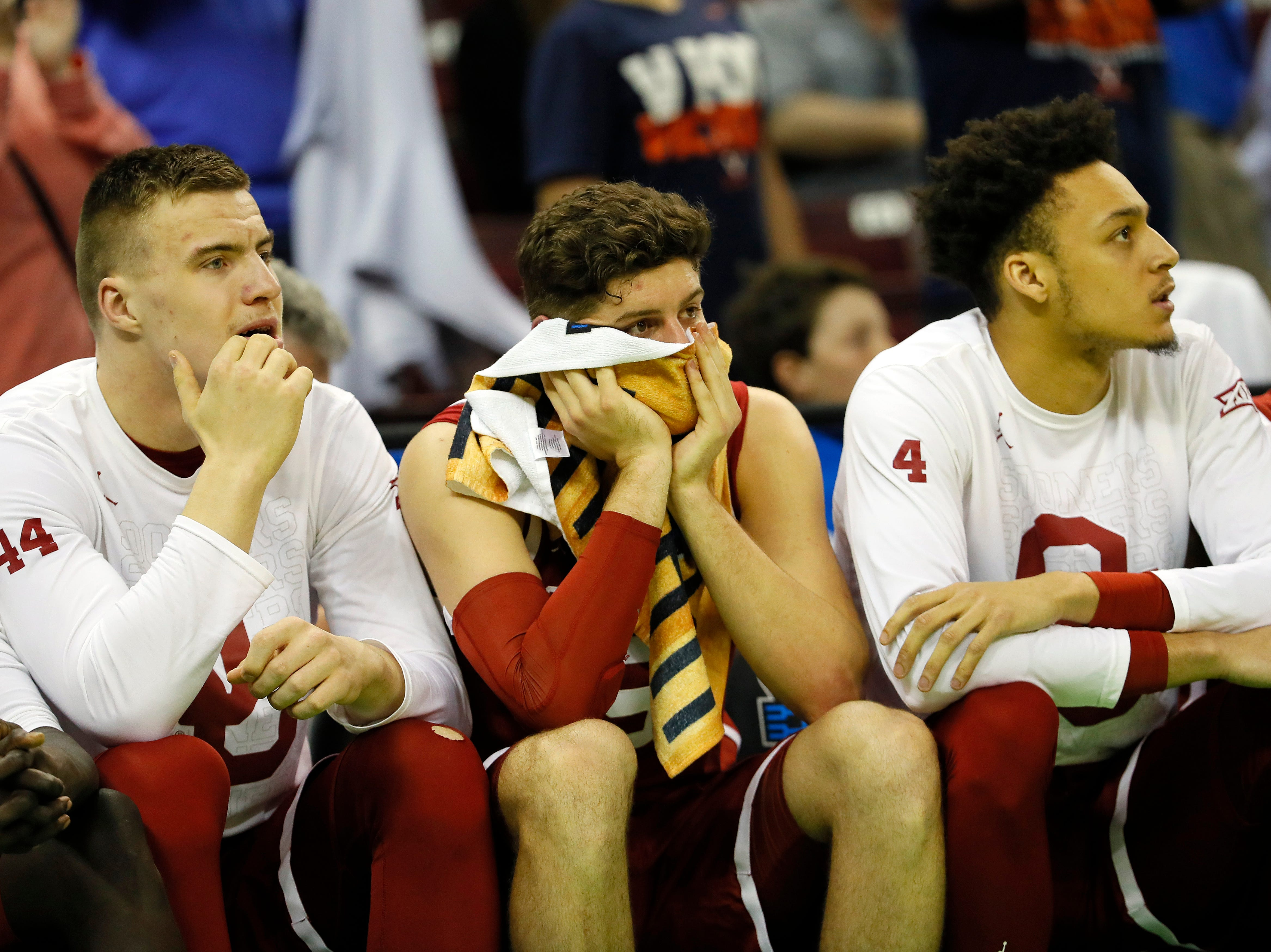 Round of 32: No. 9 Oklahoma loses to No. 1 Virginia, 63-51.