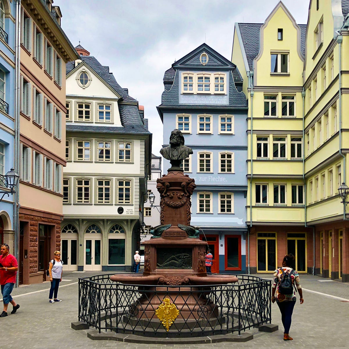 "Frankfurt's ""new"" Old Town, called the DomRömer..."