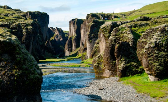 The Fjadrargljufur canyon, some 150 miles east of Iceland's capital Reykjavik, has been closed due to severe damage to vegetation. The Environment Agency of Iceland says the area has been under stress because of damage alongside a trail possibly caused by an increase in travelers to the area.