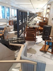 Inside the Viking Sky cruise ship.
