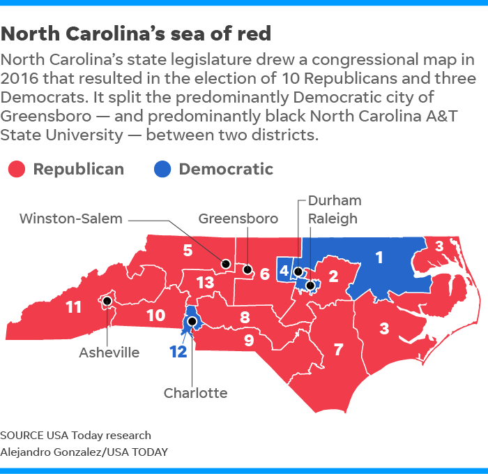 Partisan gerrymandering in redistricting on trial at Supreme ...