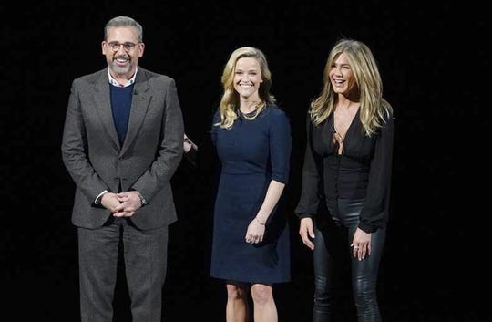 Steve Carrell, Reese Witherspoon and Jennifer Aniston.