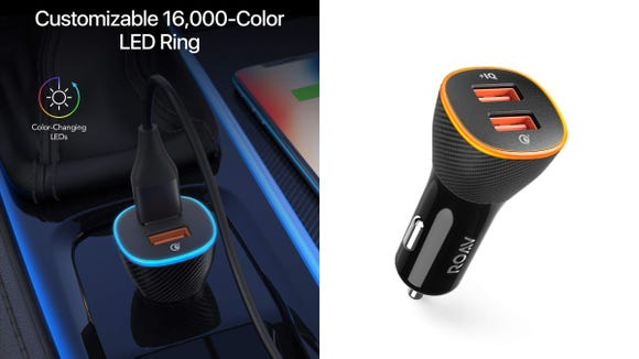 This charger changes colors to suit your mood and style.