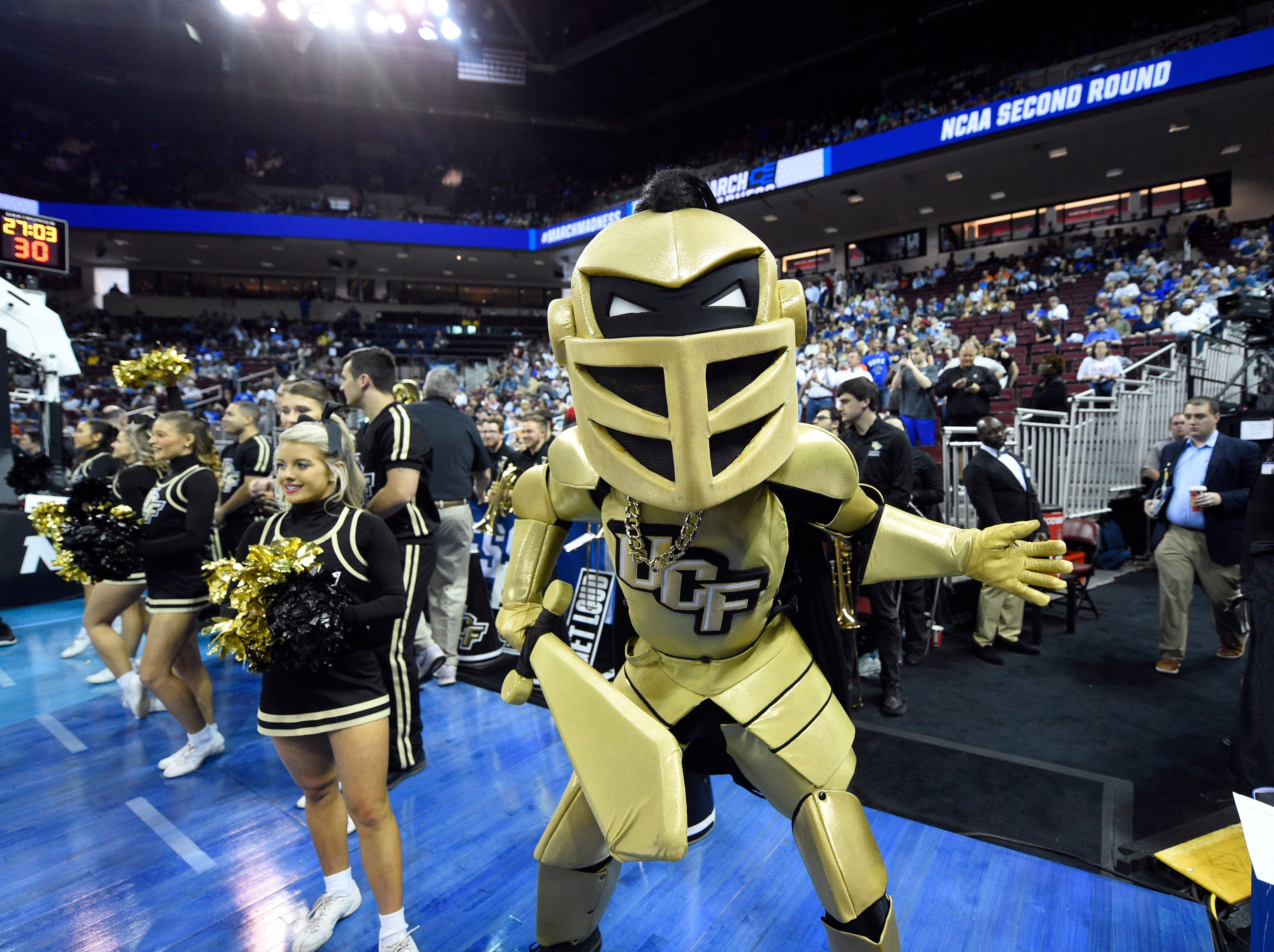 The UCF Knights mascot ... Knightro.