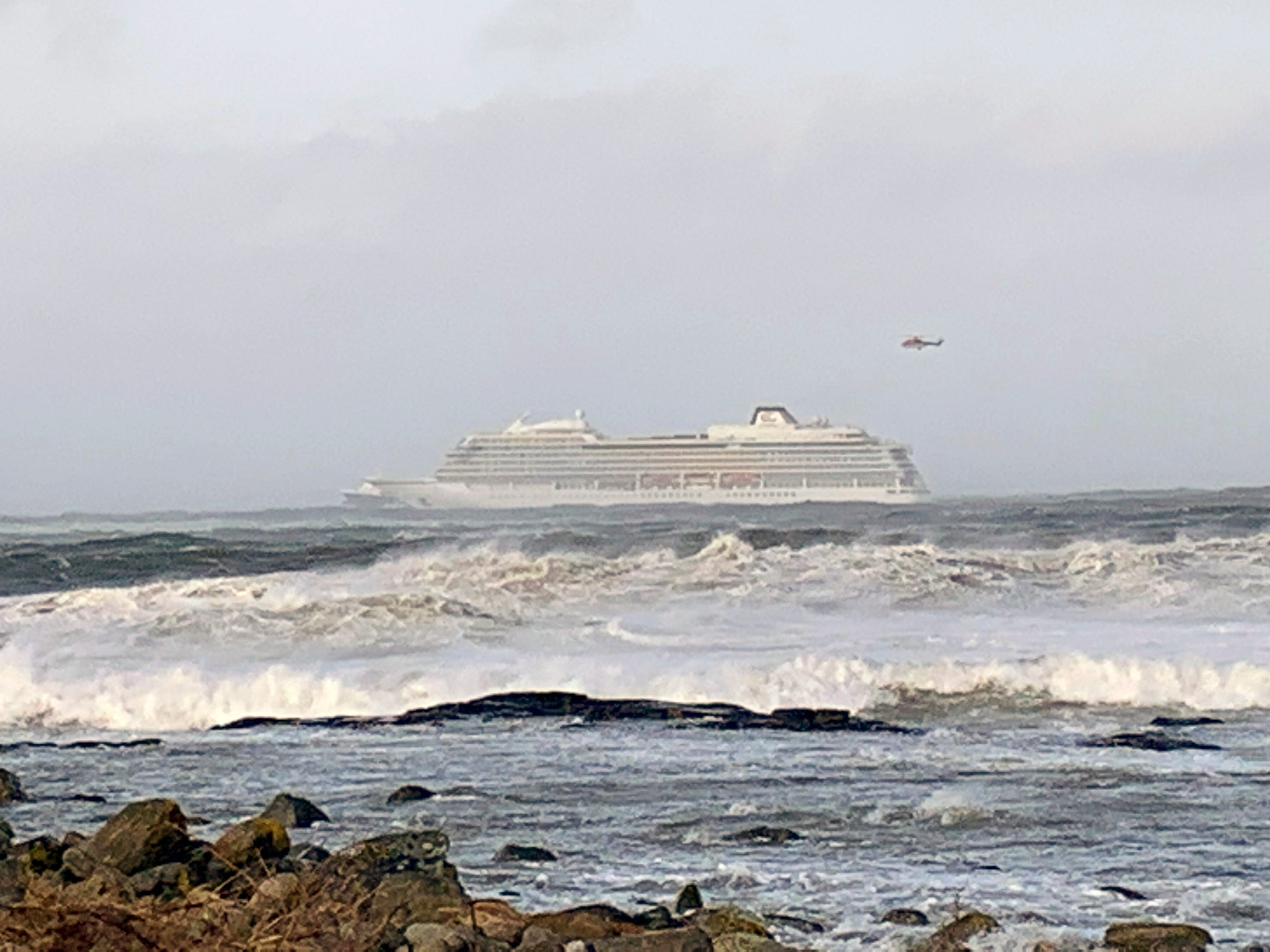 The Viking Sky airlifted more than half its 900 passengers to safety.