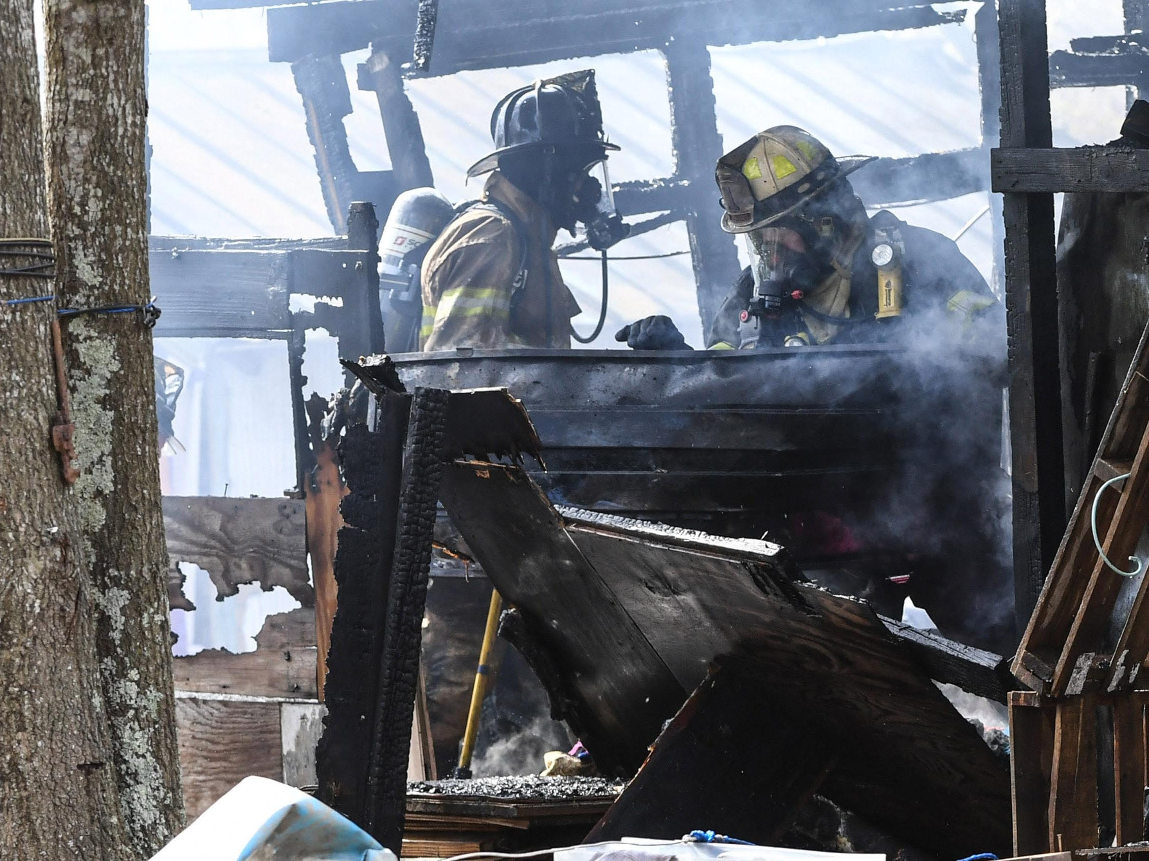 Cheddar fire responded to a call at the 800 block of Brazeale Street in Belton Tuesday, March 26, 2019. The man, woman, and dog at the home were unharmed as Belton fire, Rock Springs and Belton rescue also responded. Anderson County fire investigator Wendall Marshall was at the scene of the fire under investigation.