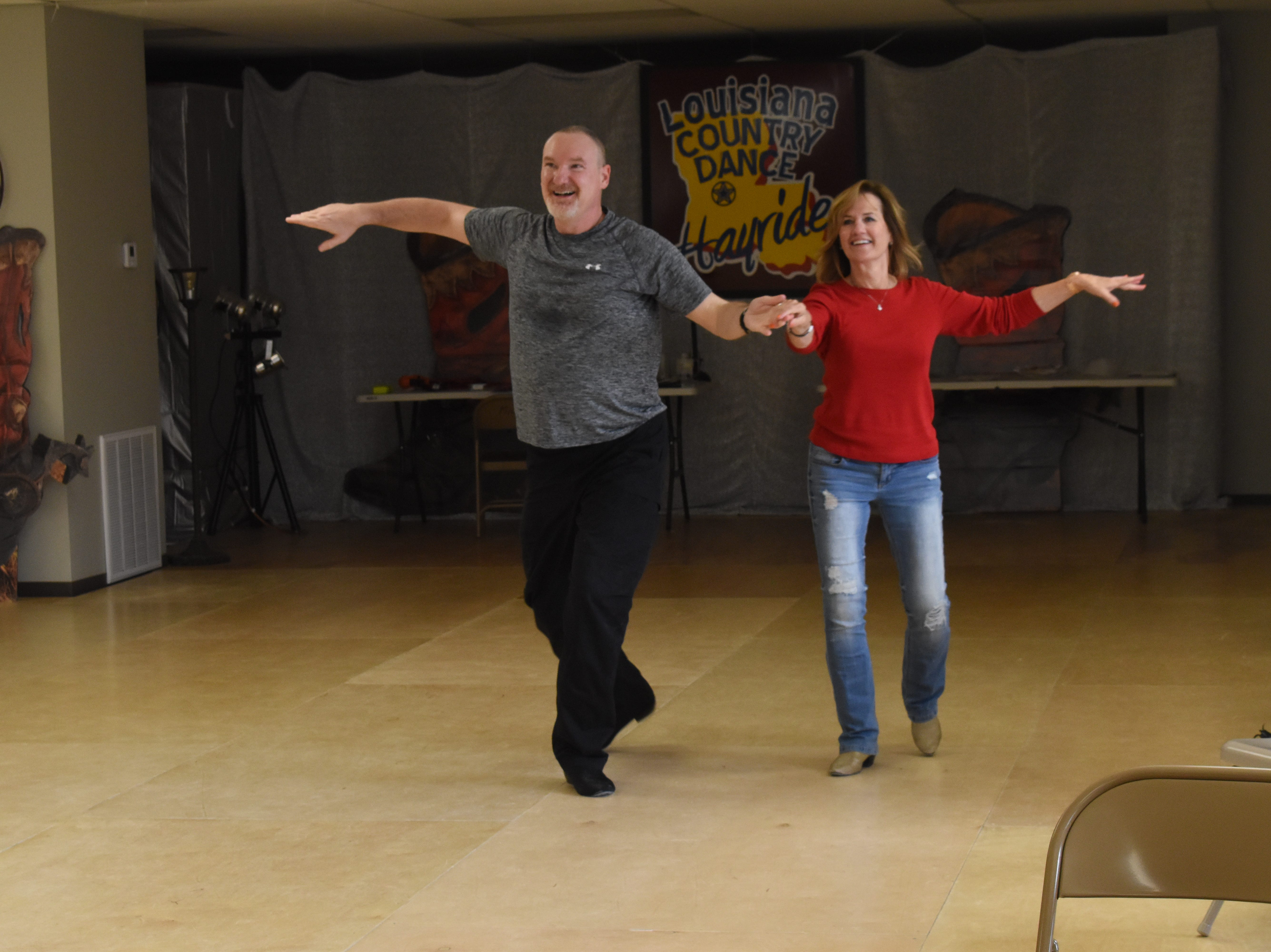 Lucky Stars Dance Studio dancers Lucky Stars Dance Studio dancers Carlyss Ducote and Bob Clanton practice a dance routine. The dancers will compete in the Louisiana Country Dance Hayride set for May 2-5 at the Best Western in Alexandria. This will be the 12th year the Louisiana Country Dance Hayride has been on the American Country Dance Association circuit. For more information about their events, visit www.lacountrydancehayride.com or the Louisiana Country Dance Hayride Facebook page.