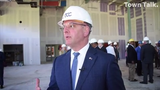 Gov. John Bel Edwards tours the new construction of the Central Louisiana Technical Community College in downtown Alexandria on Tuesday, March 26, 2019.