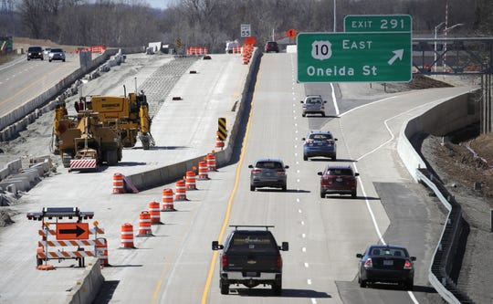 Drivers travel on State 441 near Oneida Street, where road construction is still ongoing.