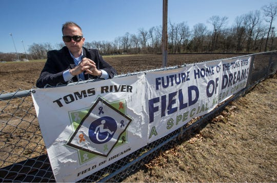 Christian Kane and his wife Mary, not pictured, began fundraising for the Toms River Field of Dreams two years ago. The park for those with disabilities has been cleared of trees and will soon break ground to begin construction.   Toms River, NJTuesday, March 26, 2019