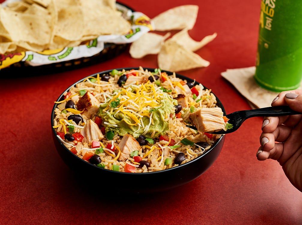 Moe's Earmuffs Burrito Bowl