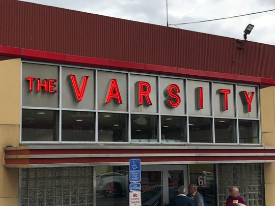 The original location of The Varsity in downtown Atlanta