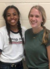 Megan Bynoe and Jordan Carr of Point Pleasant Borough High School