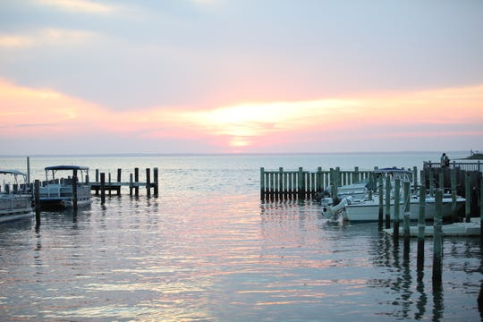 A view of Barnegat Bay from Bird and Betty's, which will open in May in Beach Haven.