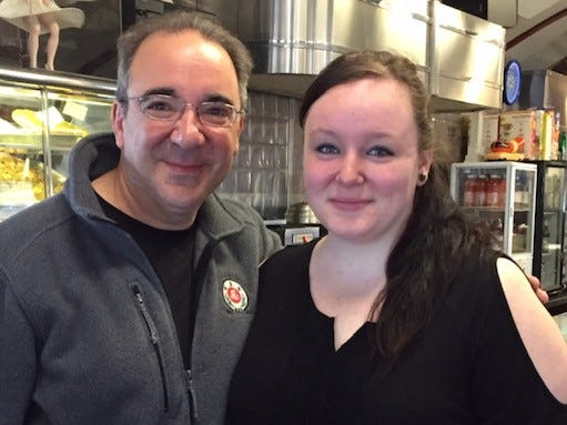 On the last day of classes, retired Maine-Endwell High School teacher John Perricone promised his students breakfast on him at the Broadway Diner and elsewhere. So far, 1000 former students have taken him up on that offer.