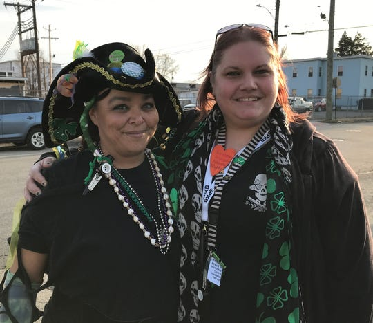 Susquehanna Pirate Kazoo Band co-founders Terri Weathers, left, and Melissa Westcott.