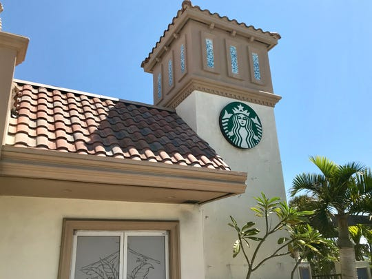 Starbucks in Indialantic, as seen from State Road A1A.