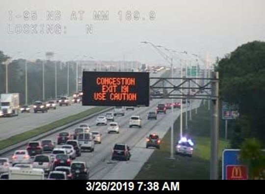 A crash on northbound I-95 near Wickham Road is causing delays.
