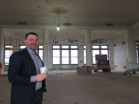 Joe Balzano, on the eighth floor of the Victor Talking Machine Company building, said there will be a restaurant on the ground floor and community meeting space on another floor in the building.