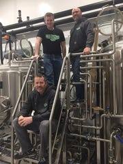 Owners of the Woods Brewing Company hope to open South Jersey's newest brewery in May in Mantua. From top are Dave Surdam, Paul McIntyre and Frank Price.