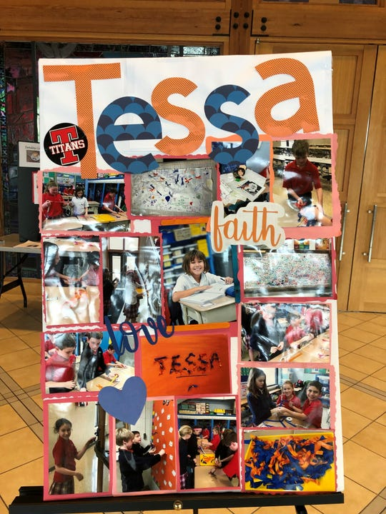 This poster celebrating Tessa Thompson's life  was on display at the family's funeral  visitation March 25 at St. Susanna Church in Mason.
