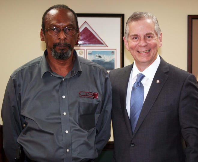 """Arthur Bing Sr., left, has announced he will retire as Director of Clarksville Transit System on June 30. """"We're going to miss his steady hand and his wise counsel, but we wish him all the best as he moves into this next chapter of his life,"""" Mayor Joe Pitts said."""
