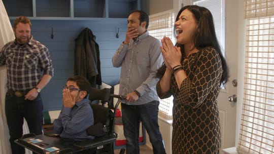 """An award-winning home improvement series with heart, """"George to the Rescue"""" came to the Shah's Iselin home in February 2018, adding a recording studio as well as creating an accessible bathroom for the musician/influencer. Diagnosed at birth with Osteogenesis Imperfecta, otherwise known as Brittle Bone disease, Sparsh Shah is a singing prodigy and motivational speaker. His """"George to the Rescue"""" episode airs April 6 on WNBC."""