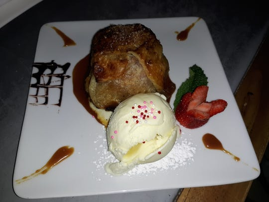 The decadent 'Apple Bomb à la Mode' dessert at The Martinsville Tavern in Martinsville.