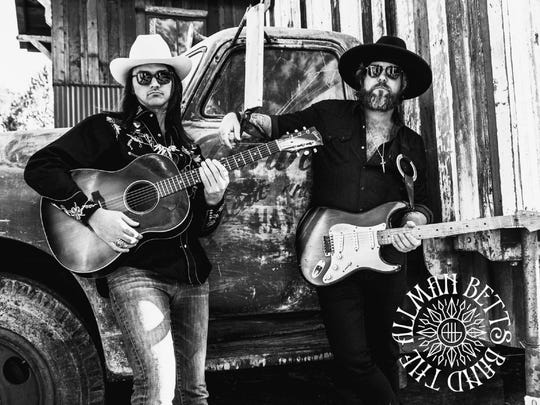 The Allman Betts Band features Duane Betts, left, and Devon Allman, sons of two of the founders of The Allman Brothers Band. Their inaugural tour coincides with the 50th anniversary of their fathers' band, as well as a forthcoming debut album and will include a stop on March 31 at Hopewell Theater.