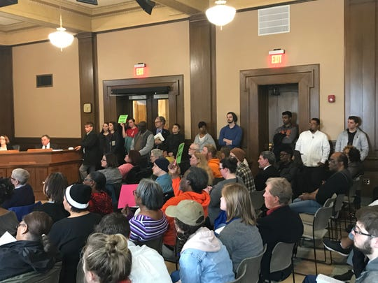 More than 100 people attended the Des Moines City Council meeting Monday to ask the council to adopt an ordinance that would ban racial profiling.